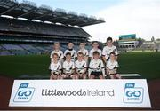 24 September 2019; Kevin Lynchs players, Co. Derry, during the Littlewoods Ireland Ulster GAA Go Games Provincial Days' in Croke Park in Dublin. This year over 6,000 boys and girls aged between six and twelve represented their clubs in a series of mini blitzes and – just like their heroes – got to play in Croke Park.  Photo by Harry Murphy/Sportsfile
