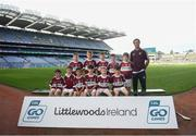 24 September 2019; Banagher GAC players, Co. Derry, during the Littlewoods Ireland Ulster GAA Go Games Provincial Days' in Croke Park in Dublin. This year over 6,000 boys and girls aged between six and twelve represented their clubs in a series of mini blitzes and – just like their heroes – got to play in Croke Park.  Photo by Harry Murphy/Sportsfile