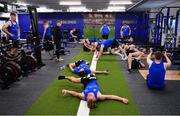 23 September 2019; The Ken Wall Centre of Excellence will be formally opened by Minister for Sport Shane Ross, T.D. and Leinster Rugby CEO Mick Dawson today. The Ken Wall Centre of Excellence was built by Extraspace Solutions and it took 11 months to build. It was fully functional from 1st July 2019 when the doors were opened for the first time to this season's age grade male and female players. The Centre is 606 sq. metres in total and is fully operational with a gym (210 sq. metres), two meeting rooms, a large open plan office with space for 20 staff, two dressing rooms and showers, a medical room and a kitchen. The Centre, which cost €1.5m to build, was funded by the Department of Sport's Capital Funds Programme, the IRFU and by private investment, and will be home to the Leinster Rugby Sub-Academy as well as the Leinster Age Grade programme. Also in attendance at the launch were members of the Wall family, who made a significant contribution to the development of the Centre and have dedicated the Centre to the memory of their late father, Ken. Photo by Seb Daly/Sportsfile