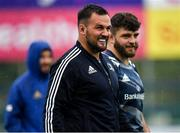 23 september 2019; Jack Aungier, left, and Michael Milne during Leinster Rugby squad training at Energia Park in Donnybrook, Dublin. Photo by Seb Daly/Sportsfile