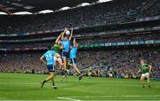 14 September 2019; James McCarthy of Dublin and team-mate Jonny Cooper combine to twart Paul Geaney of Kerry during the last minute of the GAA Football All-Ireland Senior Championship Final Replay match between Dublin and Kerry at Croke Park in Dublin. Photo by Ray McManus/Sportsfile