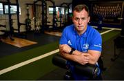 23 September 2019; The Ken Wall Centre of Excellence will be formally opened by Minister for Sport Shane Ross, T.D. and Leinster Rugby CEO Mick Dawson today. The Ken Wall Centre of Excellence was built by Extraspace Solutions and it took 11 months to build. It was fully functional from 1st July 2019 when the doors were opened for the first time to this season's age grade male and female players. The Centre is 606 sq. metres in total and is fully operational with a gym (210 sq. metres), two meeting rooms, a large open plan office with space for 20 staff, two dressing rooms and showers, a medical room and a kitchen. The Centre, which cost €1.5m to build, was funded by the Department of Sport's Capital Funds Programme, the IRFU and by private investment, and will be home to the Leinster Rugby Sub-Academy as well as the Leinster Age Grade programme. Also in attendance at the launch were members of the Wall family, who made a significant contribution to the development of the Centre and have dedicated the Centre to the memory of their late father, Ken. Pictured is Ed Byrne of Leinster Rugby following the opening of The Ken Wall Centre of Excellence, Donnybrook, Dublin. Photo by Seb Daly/Sportsfile