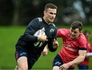 24 September 2019; Shane Daly of Munster is tackled by team-mate Alan Tynan during a Munster Rugby Squad Training session at University of Limerick in Limerick Photo by Matt Browne/Sportsfile