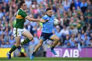 14 September 2019; Eoin Murchan of Dublin gets past David Moran of Kerry before scoring his side's first goal during the GAA Football All-Ireland Senior Championship Final Replay between Dublin and Kerry at Croke Park in Dublin. Photo by Piaras Ó Mídheach/Sportsfile