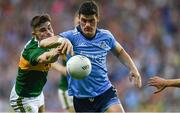 14 September 2019; Diarmuid Connolly of Dublin in action against Seán O'Shea of Kerry during the GAA Football All-Ireland Senior Championship Final Replay between Dublin and Kerry at Croke Park in Dublin. Photo by Piaras Ó Mídheach/Sportsfile
