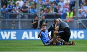 14 September 2019; Jack McCaffrey of Dublin is treated for an injury late in the first half, before being substituted at half-time, during the GAA Football All-Ireland Senior Championship Final Replay between Dublin and Kerry at Croke Park in Dublin. Photo by Piaras Ó Mídheach/Sportsfile