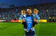 14 September 2019; Bernard Brogan of Dublin with his sons Keadán, left, and Donagh after the GAA Football All-Ireland Senior Championship Final Replay between Dublin and Kerry at Croke Park in Dublin. Photo by Piaras Ó Mídheach/Sportsfile
