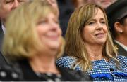 15 September 2019; Helen O'Rourke, CEO, LGFA, and LGFA President Marie Hickey during the TG4 All-Ireland Ladies Football Senior Championship Final match between Dublin and Galway at Croke Park in Dublin. Photo by Ramsey Cardy/Sportsfile