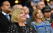 15 September 2019; LGFA President Marie Hickey, with An Taoiseach Leo Varadkar, T.D.and Helen O'Rourke, CEO, LGFA, during the TG4 All-Ireland Ladies Football Senior Championship Final match between Dublin and Galway at Croke Park in Dublin. Photo by Ramsey Cardy/Sportsfile