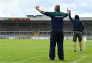 15 June 2019; Offaly manager Joachim Kelly reacts during the Joe McDonagh Cup Round 5 match between Kerry and Offaly at Austin Stack Park, Tralee in Kerry. Photo by Brendan Moran/Sportsfile