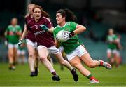 6 July 2019; Rachel Kearns of Mayo in action against Sarah Lynch of Galway during the 2019 TG4 Connacht Ladies Senior Football Final replay between Galway and Mayo at the LIT Gaelic Grounds in Limerick. Photo by Brendan Moran/Sportsfile