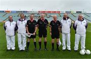 6 July 2019; Referee John Niland and his officials during the 2019 TG4 Connacht Ladies Senior Football Final replay between Galway and Mayo at the LIT Gaelic Grounds in Limerick. Photo by Brendan Moran/Sportsfile