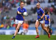 15 September 2019; Aishling Moloney of Tipperary with team-mate Aisling McCarthy, right, during the TG4 All-Ireland Ladies Football Intermediate Championship Final match between Meath and Tipperary at Croke Park in Dublin. Photo by Piaras Ó Mídheach/Sportsfile