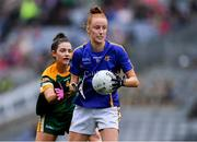 15 September 2019; Aishling Moloney of Tipperary in action against Máire O'Shaughnessy of Meath during the TG4 All-Ireland Ladies Football Intermediate Championship Final match between Meath and Tipperary at Croke Park in Dublin. Photo by Piaras Ó Mídheach/Sportsfile