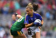 15 September 2019; Samantha Lambert of Tipperary gets past Emma Duggan of Meath during the TG4 All-Ireland Ladies Football Intermediate Championship Final match between Meath and Tipperary at Croke Park in Dublin. Photo by Piaras Ó Mídheach/Sportsfile