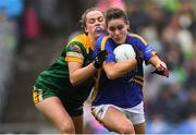 15 September 2019; Maria Curley of Tipperary in action against Emma Duggan of Meath during the TG4 All-Ireland Ladies Football Intermediate Championship Final match between Meath and Tipperary at Croke Park in Dublin. Photo by Piaras Ó Mídheach/Sportsfile