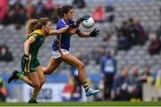 15 September 2019; Anna Rose Kennedy of Tipperary in action against Orla Byrne of Meath during the TG4 All-Ireland Ladies Football Intermediate Championship Final match between Meath and Tipperary at Croke Park in Dublin. Photo by Piaras Ó Mídheach/Sportsfile