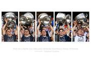 Dublin Captain Stephen Cluxton, Five in a row All-Ireland Senior Football Final Winner cup lifts, 2015, 2016, 2017, 2018 and 2019.