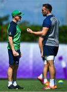 26 September 2019; Head coach Joe Schmidt with Jack Conan during Ireland Rugby squad training at the Yumeria Sports Grounds in Iwata, Shizuoka Prefecture, Japan. Photo by Brendan Moran/Sportsfile