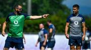 26 September 2019; Defence coach Andy Farrell with Conor Murray during Ireland Rugby squad training at the Yumeria Sports Grounds in Iwata, Shizuoka Prefecture, Japan. Photo by Brendan Moran/Sportsfile