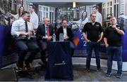 27 September 2019; James Healy and Alan Craughwell from Mixed Ability Rugby with former Munster and Ireland players David Corkery, John Kelly and Tomas O'Leary in attendance at the Permanent TSB Rugby World Cup Charity Breakfast in aid of the International Mixed Ability Rugby Tournament in Permanent TSB Blackpool Branch, Cork. Photo by Matt Browne/Sportsfile