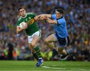 14 September 2019; David Moran of Kerry is tackled by Brian Fenton of Dublin during the GAA Football All-Ireland Senior Championship Final Replay match between Dublin and Kerry at Croke Park in Dublin. Photo by Ray McManus/Sportsfile