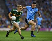 14 September 2019; Killian Spillane of Kerry in action against David Byrne of Dublin during the GAA Football All-Ireland Senior Championship Final Replay match between Dublin and Kerry at Croke Park in Dublin. Photo by Ray McManus/Sportsfile