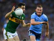 14 September 2019; Jack Sherwood of Kerry in action against Ciarán Kilkenny of Dublin during the GAA Football All-Ireland Senior Championship Final Replay match between Dublin and Kerry at Croke Park in Dublin. Photo by Ray McManus/Sportsfile