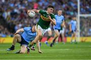 14 September 2019; Seán O'Shea of Kerry in action against John Small of Dublin during the GAA Football All-Ireland Senior Championship Final Replay match between Dublin and Kerry at Croke Park in Dublin. Photo by Ray McManus/Sportsfile