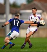27 September 2019; Shane Horan of Kilmacud Crokes in action against Pearse Gibney of St Sylvester's during the Dublin County Senior Club Football Championship Group 1 match between Kilmacud Crokes and St Sylvester's at Parnell Park in Dublin. Photo by Harry Murphy/Sportsfile