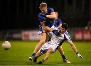 27 September 2019; Jack Hazley of St Sylvester's in action against Rory O'Carroll of Kilmacud Crokes during the Dublin County Senior Club Football Championship Group 1 match between Kilmacud Crokes and St Sylvester's at Parnell Park in Dublin. Photo by Harry Murphy/Sportsfile