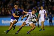 27 September 2019; Callum Pearson of Kilmacud Crokes in action against Karl Archibald of St Sylvester's during the Dublin County Senior Club Football Championship Group 1 match between Kilmacud Crokes and St Sylvester's at Parnell Park in Dublin. Photo by Harry Murphy/Sportsfile