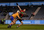 27 September 2019; Dean Rock of Ballymun Kickhams in action against Jonny Cooper of Na Fianna during the Dublin County Senior Club Football Championship Group 1 match between Na Fianna and Ballymun Kickhams at Parnell Park in Dublin. Photo by Harry Murphy/Sportsfile