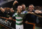 27 September 2019; Jack Byrne of Shamrock Rovers celebrates following the Extra.ie FAI Cup Semi-Final match between Bohemians and Shamrock Rovers at Dalymount Park in Dublin. Photo by Stephen McCarthy/Sportsfile