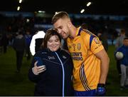 27 September 2019; Jonny Cooper of Na Fianna takes a selfie with a fan following the Dublin County Senior Club Football Championship Group 1 match between Na Fianna and Ballymun Kickhams at Parnell Park in Dublin. Photo by Harry Murphy/Sportsfile