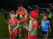 27 September 2019; James McCarthy of Ballymun Kickhams signs autographs following the Dublin County Senior Club Football Championship Group 1 match between Na Fianna and Ballymun Kickhams at Parnell Park in Dublin. Photo by Harry Murphy/Sportsfile