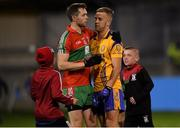 27 September 2019; Dean Rock of Ballymun Kickhams and Jonny Cooper of Na Fianna shake hands following the Dublin County Senior Club Football Championship Group 1 match between Na Fianna and Ballymun Kickhams at Parnell Park in Dublin. Photo by Harry Murphy/Sportsfile