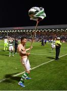 27 September 2019; Aaron Greene of Shamrock Rovers celebrates following his side's victory during the Extra.ie FAI Cup Semi-Final match between Bohemians and Shamrock Rovers at Dalymount Park in Dublin. Photo by Seb Daly/Sportsfile