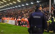 27 September 2019; A Member of An Garda Síochána on the pitch during the Extra.ie FAI Cup Semi-Final match between Bohemians and Shamrock Rovers at Dalymount Park in Dublin. Photo by Stephen McCarthy/Sportsfile