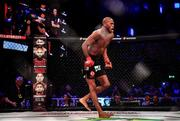 27 September 2019; Michael Page celebrates after defeating Richard Kiely following their welterweight bout at Bellator Dublin in the 3Arena, Dublin. Photo by David Fitzgerald/Sportsfile