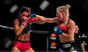 27 September 2019; Danni Neilan, right, in action against Camila Rivarola during their women's strawweight bout at Bellator Dublin in the 3Arena, Dublin. Photo by David Fitzgerald/Sportsfile
