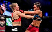 27 September 2019; Danni Neilan, left, in action against Camila Rivarola during their women's strawweight bout at Bellator Dublin in the 3Arena, Dublin. Photo by David Fitzgerald/Sportsfile