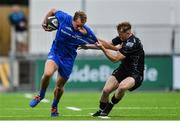 28 September 2019; Niall Comerford of Leinster is tackled by Carwyn Penny of Dragons during The Celtic Cup Round 6 match between Leinster and Dragons at Energia Park in Donnybrook, Dublin. Photo by Piaras Ó Mídheach/Sportsfile