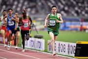 28 September 2019; Mark English of Ireland, right, leads the field whilst competing in the Men's 800m during day two of the World Athletics Championships 2019 at Khalifa International Stadium in Doha, Qatar. Photo by Sam Barnes/Sportsfile