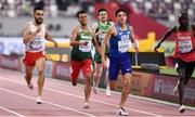 28 September 2019; Mark English of Ireland, centre, on his way to finishing 7th in his heat whilst competing in the Men's 800m during day two of the World Athletics Championships 2019 at Khalifa International Stadium in Doha, Qatar. Photo by Sam Barnes/Sportsfile