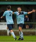 28 September 2019; Richard Tobin of Avondale United celebrates with team-mate Danny O'Connell, right, after scoring his side's second goal during the FAI Tom Hand Cup Final match between St Michaels and Avondale United at St Michaels FC in Tipperary. Photo by Eóin Noonan/Sportsfile