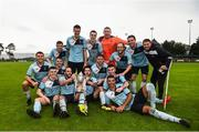 28 September 2019; Avondale United celebrate with the cup following the FAI Tom Hand Cup Final match between St Michaels and Avondale United at St Michaels FC in Tipperary. Photo by Eóin Noonan/Sportsfile
