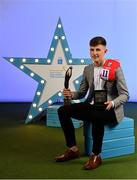 28 September 2019; Pictured is Cork Minor Footballer, Conor Corbett, named 2019 Minor Footballer of the Year at the 2019 Electric Ireland GAA Minor Star Awards as voted for by an expert panel of GAA legends including Karl Lacey and Tomás Quinn. The Electric Ireland GAA Minor Star Awards create a major moment for Minor players, showcasing the outstanding achievements of individual performers throughout the Championship season. The awards also recognise the effort of those who support them day in and day out, from their coaches to parents, clubs and communities. #GAAThisIsMajor Photo by Seb Daly/Sportsfile