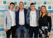 28 September 2019; Oisín Tunney of Breaffy and Mayo with family members on their arrival at the 2019 Electric Ireland Minor Star Awards. The Hurling and Football Team of the Year was selected by an expert panel of GAA legends including Alan Kerins, Derek McGrath, Karl Lacey and Tomás Quinn. The Electric Ireland GAA Minor Star Awards create a major moment for Minor players, showcasing the outstanding achievements of individual performers throughout the Championship season. The awards also recognise the effort of those who support them day in and day out, from their coaches to parents, clubs and communities. #GAAThisIsMajor  Photo by Seb Daly/Sportsfile