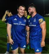 28 September 2019; Peter Dooley, left, and Michael Milne of Leinster following the Guinness PRO14 Round 1 match between Benetton and Leinster at Stadio Monigo in Treviso, Italy. Photo by Ramsey Cardy/Sportsfile